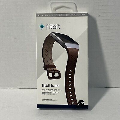$ CDN45 • Buy Fitbit Ionic Perforated Accessory Band In Cognac - Quality Leather - S