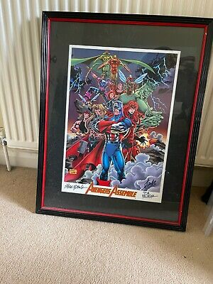 £449 • Buy Stan Lee Signed   Avengers Assemble Marvel Comics Heroes Lithograph