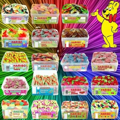 £5.99 • Buy 1 Full Tub Haribo Sweets Wholesale Discount Candy Box Party Favours Treats