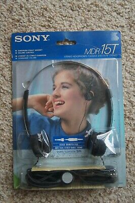AU13.52 • Buy DEADSTOCK NOS Vtg 80's Sony MDR-15T Dynamic Stereo Headphones. Unopened Package