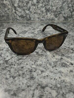 AU41.21 • Buy Ray Ban Rb4105 710 Folding Wayfarer Brown Tortoise Sunglasses