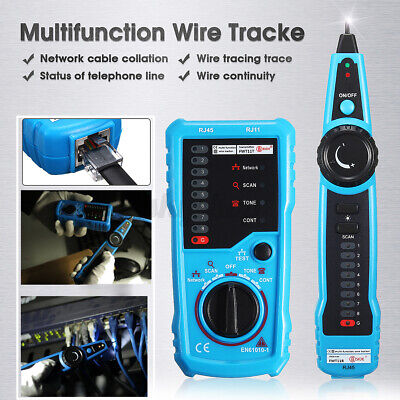 RJ45 RJ11 Network LAN Telephone Cable Toner Wire Line Tester Tracer  • 18.92£