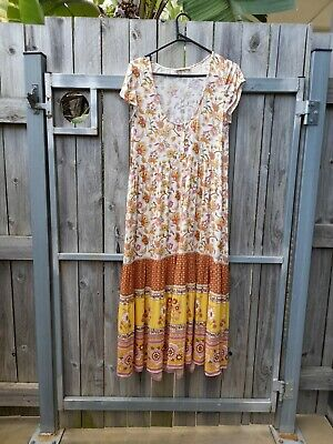 AU137 • Buy Spell & The Gypsy Portobello Road Babydoll Midi Dress Size XS (up To Size 10)
