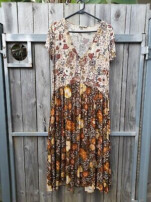 AU138.50 • Buy Spell & The Gypsy Desert Daisy Babydoll Midi Dress Mustard Size Medium