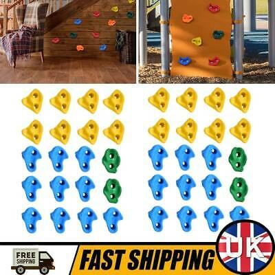 £48.99 • Buy 40x Rock Climbing Holds Wall Stones Indoor Kids Playground With Fixing Set Toy