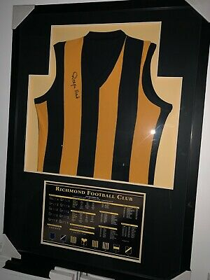 AU795 • Buy AFL RICHMOND TIGERS ROYCE HART HAND SIGNED GURNSEY Premiers Martin
