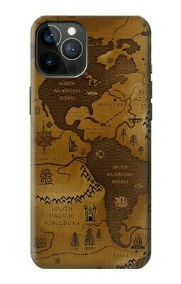 £20.99 • Buy S2861 Antique World Map Case For IPHONE Samsung Smartphone ETC