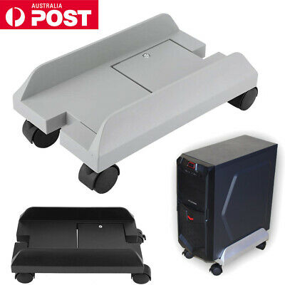 AU23.85 • Buy PC Case Desktop CPU Stand Holder Computer Tower Rolling Wheels Adjustable AU NEW