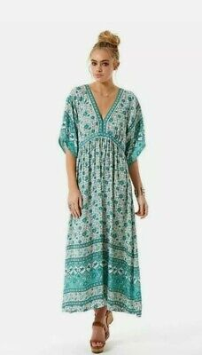 AU180 • Buy Spell Kombi Folk Dress - Sage