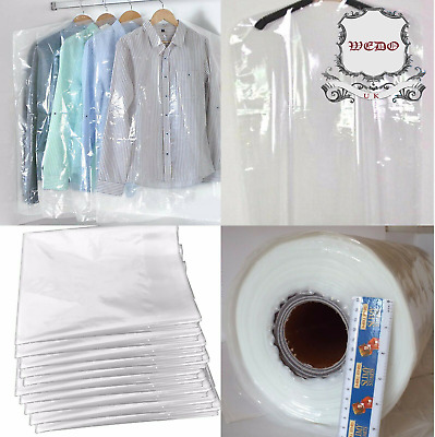 £3.99 • Buy Clear Poly Garment Covers Clothes Suit Dress Plastic Bags Poly Roll  UK BRAND
