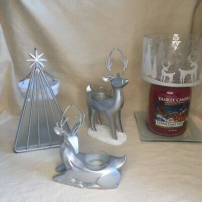 ❄️Yankee Candle Arctic Forest Christmas Set Hanging Warmer Reindeer Shade Plate • 64.99£