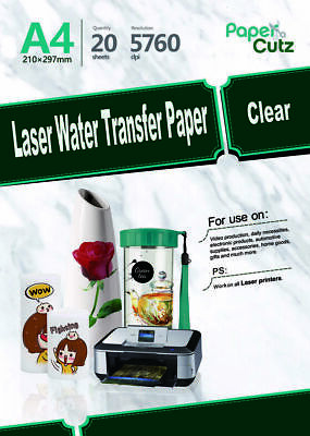 £499 • Buy Water Slide Decal Paper A4 LASER Waterslide Transfer Paper Clear - 500 Sheets