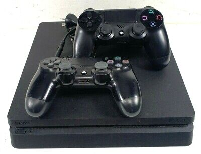 AU133.50 • Buy Sony Playstation 4 PS4 CUH-2202A Slim 500GB Black Gaming Console + 2x Controller