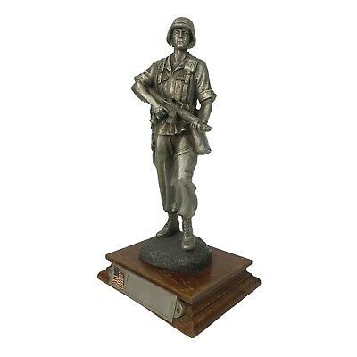 $175 • Buy Desert Storm Soldier Statue La Rocca Chilmark Pewter USA Limited Edition 290/950