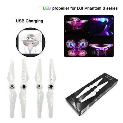 AU23.36 • Buy 2pcs White Propellers For DJI Phantom 3 With LED Light Drone Accessories