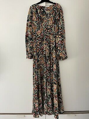 AU200 • Buy Scanlan & Theodore Silk Long Dress - Size 6 - Excellent Condition - More Listed