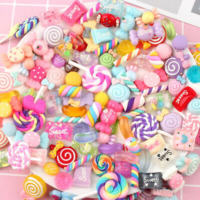 AU12.84 • Buy 30pcs DIY Scrapbooking Slime Beads Accessories Candy Flatbacks Crafts Colorful