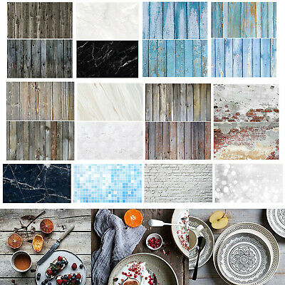 Dual Double Sided Backdrop Paper Instagram Product Food Background Drop Photo~ • 9.69£