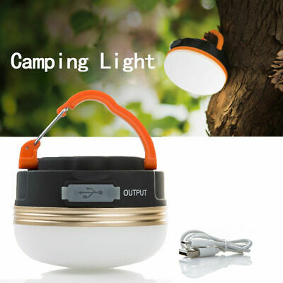 £8.39 • Buy Portable LED Camping Tent Light USB Rechargeable Hanging Lantern Lamps Torches