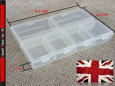 £1.69 • Buy Transparent *6 Individual Section* Compartment Organiser Box Plastic Divider-NEW