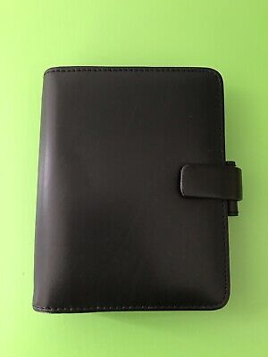 £9.99 • Buy Black Faux Leather Filofax Metropol Pocket Organiser With Some Inserts