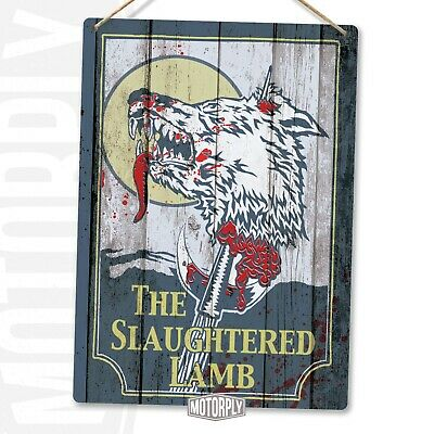 £7.89 • Buy Metal Wall Sign - The Slaughtered Lamb - American Werewolf In London Art