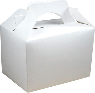 £3.79 • Buy 10 White Food Boxes Favour Party Bag Hygienic Christening First Communion Holy