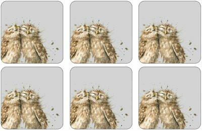 £12.99 • Buy 6 Wrendale Designs Woodland Owl Hot Drink Coasters With Cork Backing 10x10cm