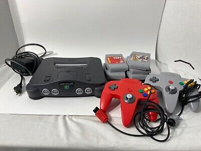 AU7.08 • Buy N64 Nintendo 64 Console Set With 2 Controllers Cords And 7 Games All Items Work