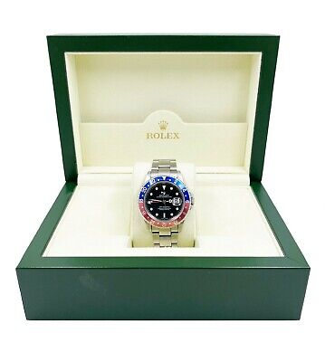$ CDN15476.19 • Buy Rolex GMT Master II 16710 Pepsi Red And Blue Stainless Steel UNPOLISHED