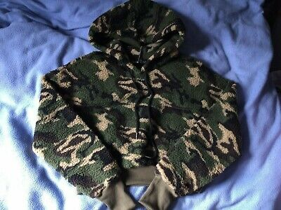 SheIn Camouflage Hooded Cropped Jumper Camo Fleece XS Hoodie • 9.99£