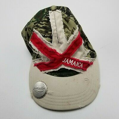 £7.82 • Buy Jamaica Souvenir Bottle Opener Hat Cap Camouflage Adult Used Strapback Ca5