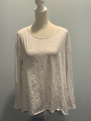 $ CDN41.21 • Buy Lululemon Long Sleeve High Low Top Size 12 Ivory Open Back