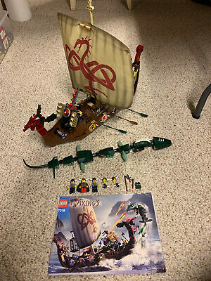 £173.11 • Buy Lego Viking Ship Challenges The Midgard Serpent #7018  W/Manual & Minifigs