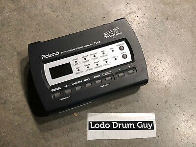 AU124.35 • Buy Roland TD-3 V-Drum Module BRAIN ONLY TESTED No A/C #NP3
