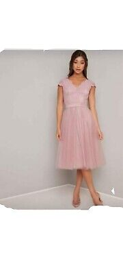 AU92.24 • Buy Special Occasion Dress Size 22 Chi Chi London. BNWT. Stunning Lace Detail
