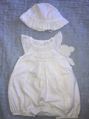 AU2.67 • Buy Baby Girls Summer Romper And Hat Age 0-3 Months Next