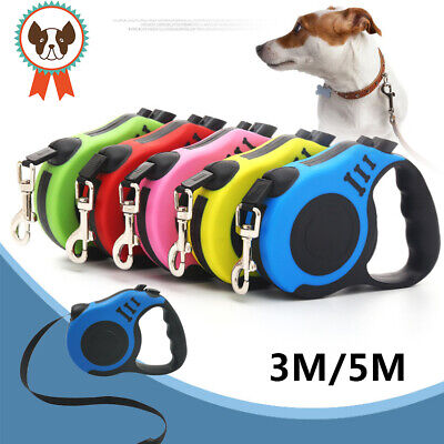 £6.29 • Buy G Strong Long Retractable Dog Cat Lead Locking Extending Tape Cord Pet Dog 3M 5M