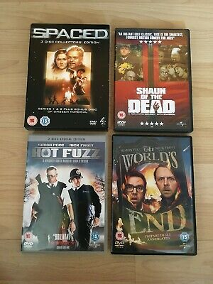 £9.99 • Buy SPACED/SHAUN OF THE DEAD/HOT FUZZ/WORLDS END REGION 2 DVDs SIMON PEGG NICK FROST