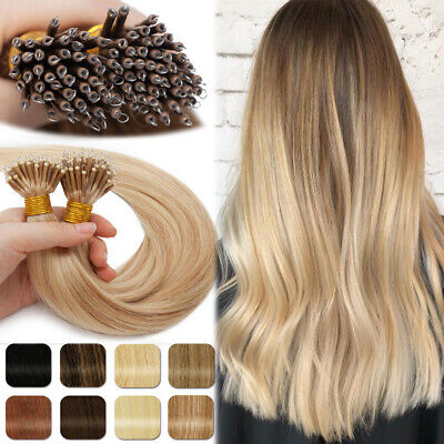 14 -24  1g 8A Nano Ring Russian Indian 100% Remy Human Hair Extensions Tip Bead • 31.60£