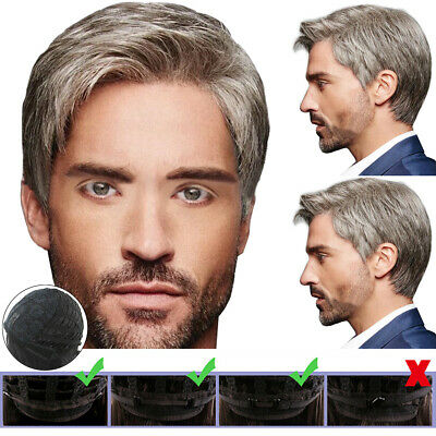 £9.87 • Buy Handsome Mens Real Natural Short Wig Male Synthetic Cosplay Party Full Hair Wigs
