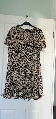AU14.29 • Buy Size 18 New Look Asos Curve Dress, Animal Print