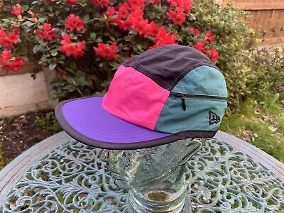 AU28.76 • Buy Rare New Era Sample 5 Panel Multi Coloured Camper Cap With Pockets One Size