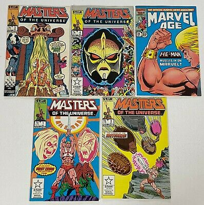 $51 • Buy He-Man MASTERS OF THE UNIVERSE 1 2 3 4 Star Run Lot 1986 Marvel Age 38 VF+ VF/NM