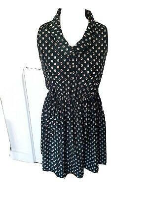 Gorgeous Summer/Holiday/Work Dress Green With Spot Design, Size Small NWOT • 3.75£