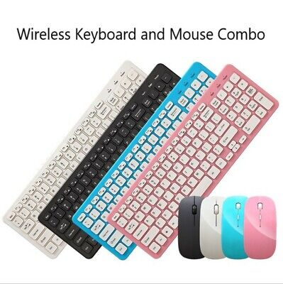AU26.72 • Buy Wireless Keyboard And Mouse Combo Set Ultra Slim 2.4GHz Kit USB Receiver For PC