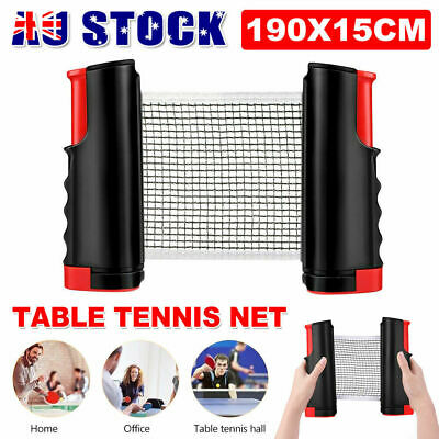 AU13.99 • Buy Table Tennis Ping Pong Set Retractable Net Rack Portable Sports Indoor Games AU