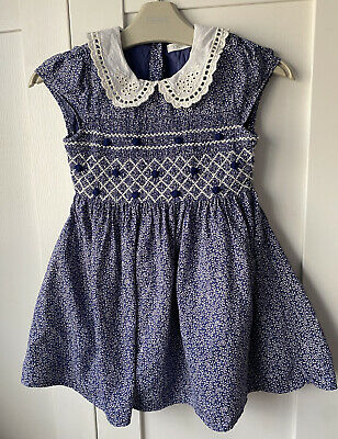 £10 • Buy Girls NEXT Navy Blue Lace Collar Prom Dress 2-3 Years