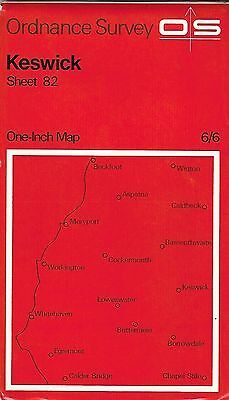Ordnance Survey  Keswick Sheet 83 Date 1965 One Inch Map • 6.75£