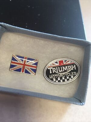 £5 • Buy Pin Badges Triumph Motorcycles And Union Jack